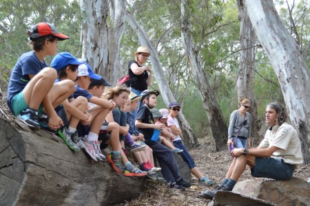Junior Rangers found an old dry billabong from the Maribyrnong River